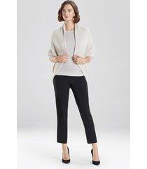 natori chunky knit cocoon sweater jacket, women's, beige, size s natori