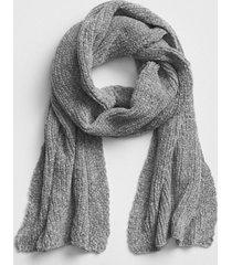 bufanda chenille mujer gris gap