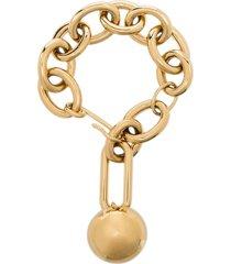 jil sander sphere chain bracelet - gold