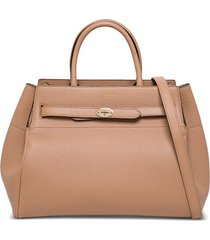mulberry bayswater heavy handbag in pink leather