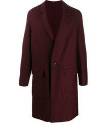 ami three-button coat - red