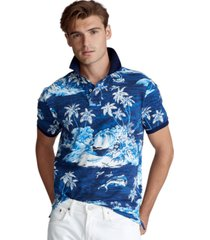polo ralph lauren men's big & tall classic fit tropical mesh polo
