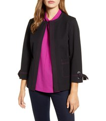 women's ming wang tie cuff jacket