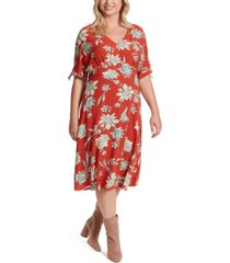 jessica simpson trendy plus size printed a-line dress