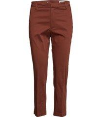 lobby trousers byxa med raka ben brun hope