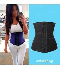 underbust steel boned corset waist trainer cincher body shaper workout training