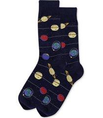 hot sox men's solar system crew socks