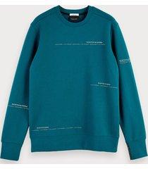 scotch & soda basic crew neck sweatshirt
