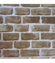 kit 2 rolos de papel de parede fwb tijolo avista amarelo descascado