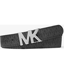 mk cintura reversibile con fibbia con logo - nero (nero) - michael kors