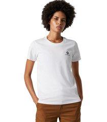 converse camiseta stacked logo white