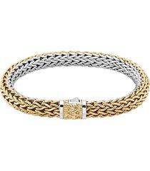 'classic chain tiga' 18k gold sterling silver reversible bracelet
