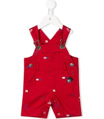 lapin house nautical print multi-pocket shortie - red
