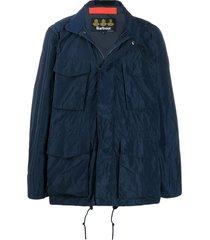 barbour gelb multi-pocket windbreaker jacket - blue