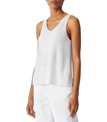 women's eileen fisher v-neck tank sweater, size x-large - ivory