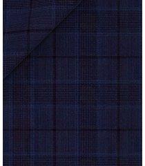 giacca da uomo su misura, lanificio zignone, leggerissimo blu principe di galles, primavera estate | lanieri