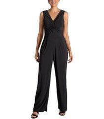 donna ricco knot-front jumpsuit