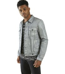 chaqueta dillon denim jacket w coating sici gris guess