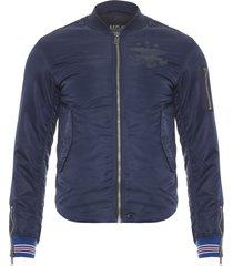 jaqueta masculina over top - azul marinho