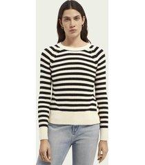 scotch & soda striped chunky knit sweater
