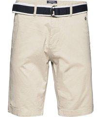 dks belted bermuda shorts shorts chinos shorts beige sebago