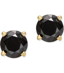 black diamond stud earrings (1 ct. t.w.) 14k white or yellow gold
