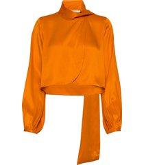 rodebjer azisa blouse lange mouwen oranje rodebjer