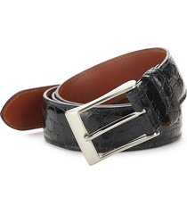 saks fifth avenue men's genuine crocodile skin belt - black - size 38