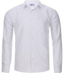 camisa formal puntos color blanco, talla m