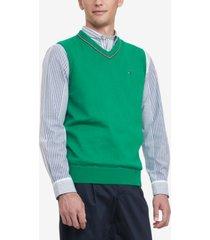 tommy hilfiger men's jackson regular-fit v-neck sweater vest