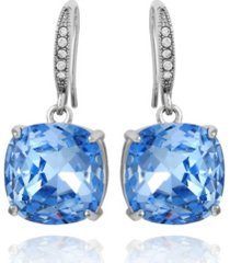 t tahari women's sapphire linear drop earring