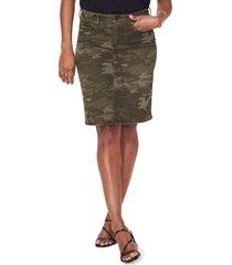 women's nydj five pocket skirt, size 12 - green