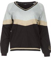 glitter sweater aperra  zwart