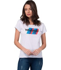 tshirt feminina wrangler urbano - wf8016 - kanui