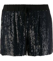 p.a.r.o.s.h. sequinned straight-leg shorts - blue