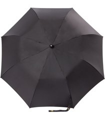 chanel pre-owned folding umbrella and quilted case - black