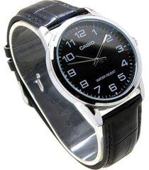 reloj casio mtp_v001l_1b negro cuero