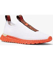 mk sneaker bodie slip-on in mesh con logo - orange multi - michael kors