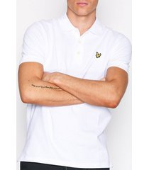 lyle & scott plain polo shirt piké white