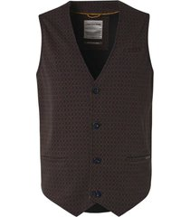 no excess gilet all over printed jersey unlin rusty