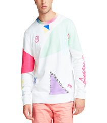 guess men's abstract print sweatshirt