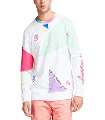 guess men's abstract print sweatshirt