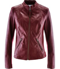 giacca in similpelle (rosso) - bpc bonprix collection