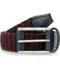 anderson's belts elastic woven belt  - navy/dark red | 3106-b9