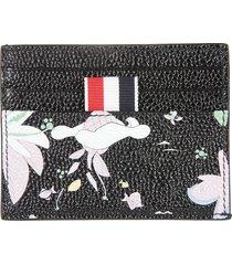 thom browne hawaiian scenic print single card holder