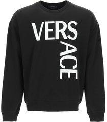 versace maxi logo sweatshirt