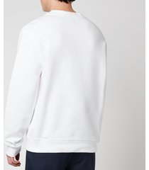 lanvin men's embroidered sweatshirt - optic white - xl
