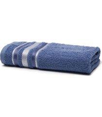 toalha de rosto santista prata serena, azul