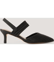 na-kd shoes sling-back pumps med rysch - black
