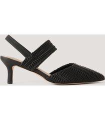 na-kd shoes sling-back pumps med rysch - black